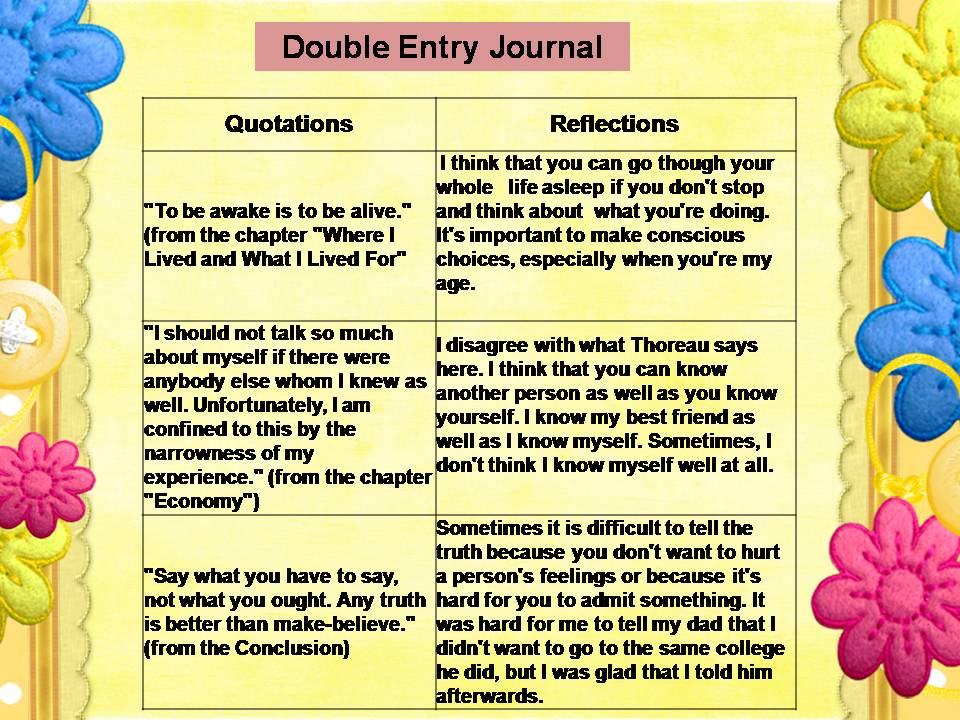 How to write a double entry journal